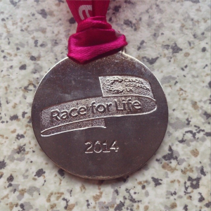 'Race For Life' medal