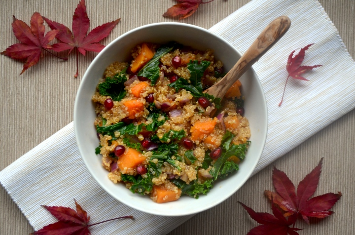 Butternut & Pomegranate Quinoa Salad