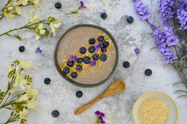 Blueberry Breakfast Smoothie Bowl
